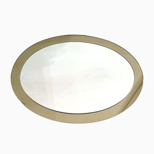 Large Two-Tone Oval Wall Mirror, 1970s
