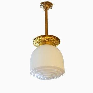 Vintage Bronze & Crystal Lamp, 1950s
