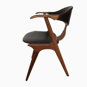 Mid-Century Cow Horn Chair by Louis Van Teeffelen for AWA Meubelfabriek, 1950s