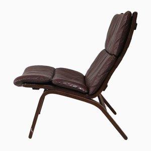Mid-Century Danish Leather Lounge Chair, 1960s