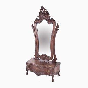 Tocador antiguo de palisandro con espejo