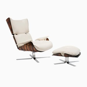 Vintage Paulistana Lounge Chair & Ottoman by Jorge Zalszupin