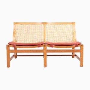 Dänisches Mid-Century Sofa aus Mahagoni & Leder von Rud Thygesen & Johnny Sørensen für Magnus Olesen