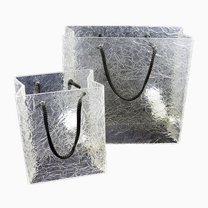 Lampes Shopping Bag Mid-Century en Lucite, Set de 2