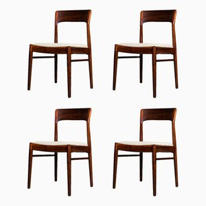 Rosewood Dining Chairs by Kai Kristiansen for KS Møbler, 1960s, Set of 4