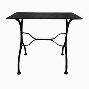 Vintage Black Metal Garden Table, 1950s