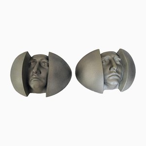 Human Face Sconces, 1980s, Set of 2
