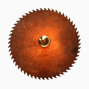 Vintage French Saw Blade Light