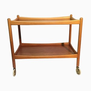 Swedish Teak Serving Bar Cart, 1960s