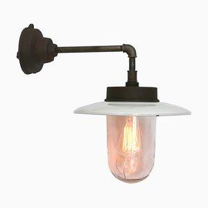 Industrielle Wandlampe aus Gusseisen, 1950er