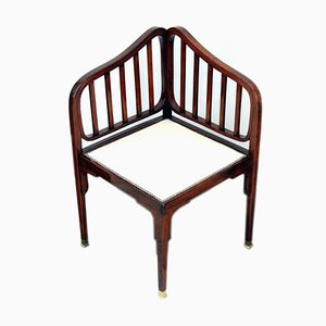 Art Nouveau No. 412 Corner Bench by Otto Wagner for Jacob & Josef Kohn, 1900s