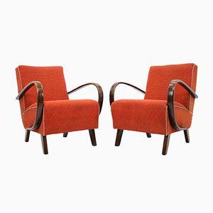 Lounge Chairs by Jindřich Halabala, 1950s, Set of 2