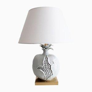 Lámpara de mesa italiana en forma de granada de cerámica, años 70