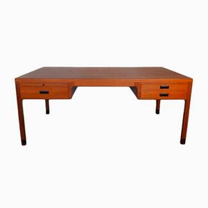 Danish Teak Executive Desk by Ejner Larsen & Aksel Bender Madsen for Beck, 1950s