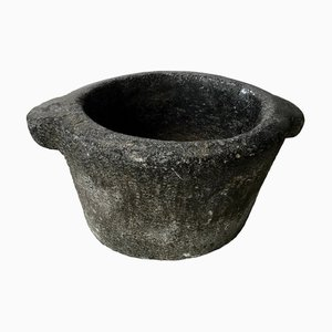 18th-Century Handcarved Stone Mortar