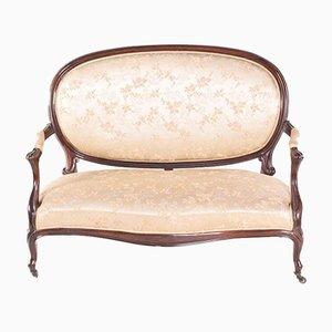 Antikes Sofa mit Gestell aus Palisander im Louis XV-Stil