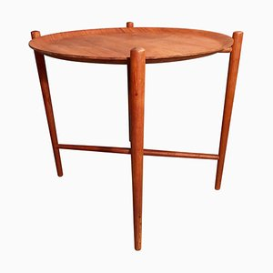 Mid-Century Teak Serving Tray Table
