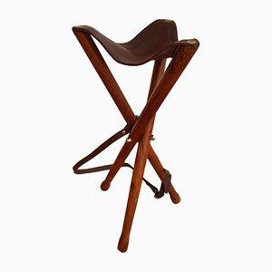 Silla Hunting danesa de teca, años 60