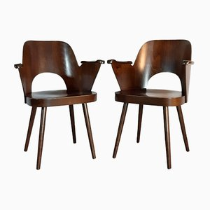 Model 1515 Chairs by Oswald Haerdtl for TON, 1950s, Set of 2