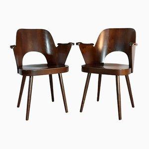 Modell 1515 Stühle von Oswald Haerdtl für TON, 1950er, 2er Set
