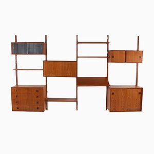 Danish Teak Modular Wall Shelf, 1960s
