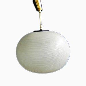 Lámpara colgante Mid-Century de vidrio