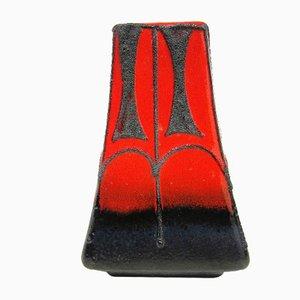 Jarrón Fat Lava rojo de Fohr Keramik, años 60