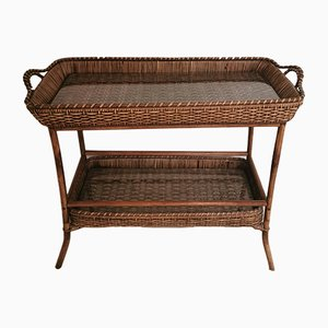 Vintage French Rattan Console