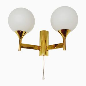 Mid-Century Brass Wall Lights from Kaiser Idell, 1960s, Set of 2