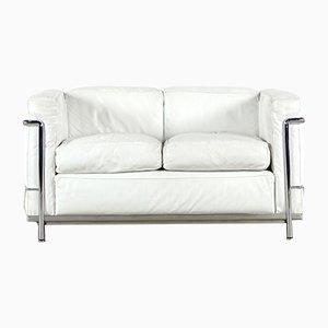 Sofá de dos plazas LC2 vintage de Le Corbusier, Piere Jeanneret & Charlotte Perriand para Cassina