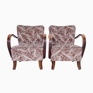 Vintage Lounge Chairs by Jindřich Halabala, 1950s, Set of 2
