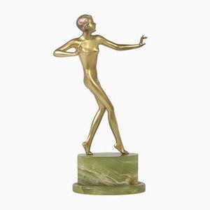 Art Deco Skulptur aus Bronze von Josef Lorenzl, 1930er
