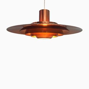 Copper Ceiling Light by Kastholm & Fabricius for Nordisc Solar, 1964