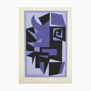 Vintage Kwartz Serigrafie von Victor Vasarely