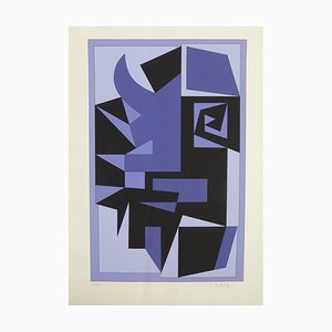 Vintage Kwartz Serigraph by Victor Vasarely