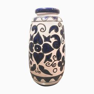 Large West German Art Floor Vase, 1970s