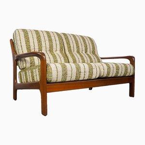 Dänisches Vintage Sofa mit Gestell aus Teak, 1970er