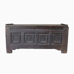 Antique Northern European Oak Linen Chest