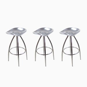 Space Age Bar Stools, 1980s, Set of 3