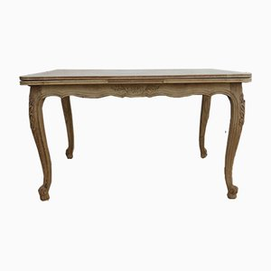Bleached Oak Draw Leaf Dining Table, 1930s