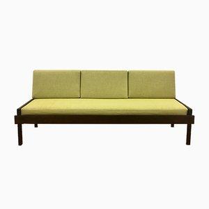 Sofá cama vintage de palisandro, años 60