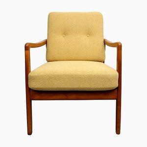 Gelber FD109 Sessel von Ole Wanscher, 1950er