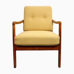 Yellow FD109 Armchair by Ole Wanscher, 1950s