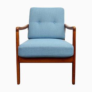 Blauer FD109 Sessel von Ole Wanscher, 1950er
