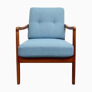 Blue FD109 Armchair by Ole Wanscher, 1950s