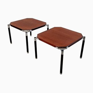 Mahogany Coffee Side Tables by Ico & Luisa Parisi for MIM, 1950s, Set of 2