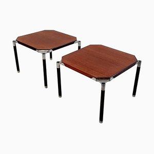 Tavolini da caffè in mogano di Ico & Luisa Parisi per MIM, anni '50, set di 2