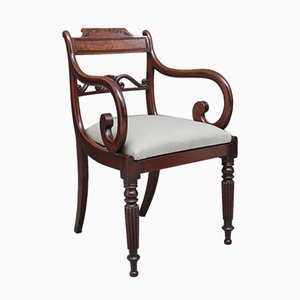 19th-Century Mahogany Armchair