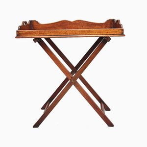 19th-Century Mahogany Butler's Tray on Stand