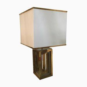 Tischlampe aus Chrom & Messing von Romeo Rega, 1970er